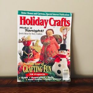 Vintage Holiday craft magazine.